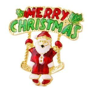 MERRY CHRISTMAS Santa Claus Pin/Brooch